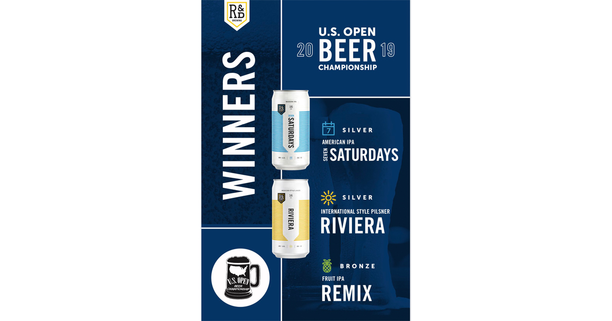 R&D Brewing Wins Multiple Medals at U S  Open Beer