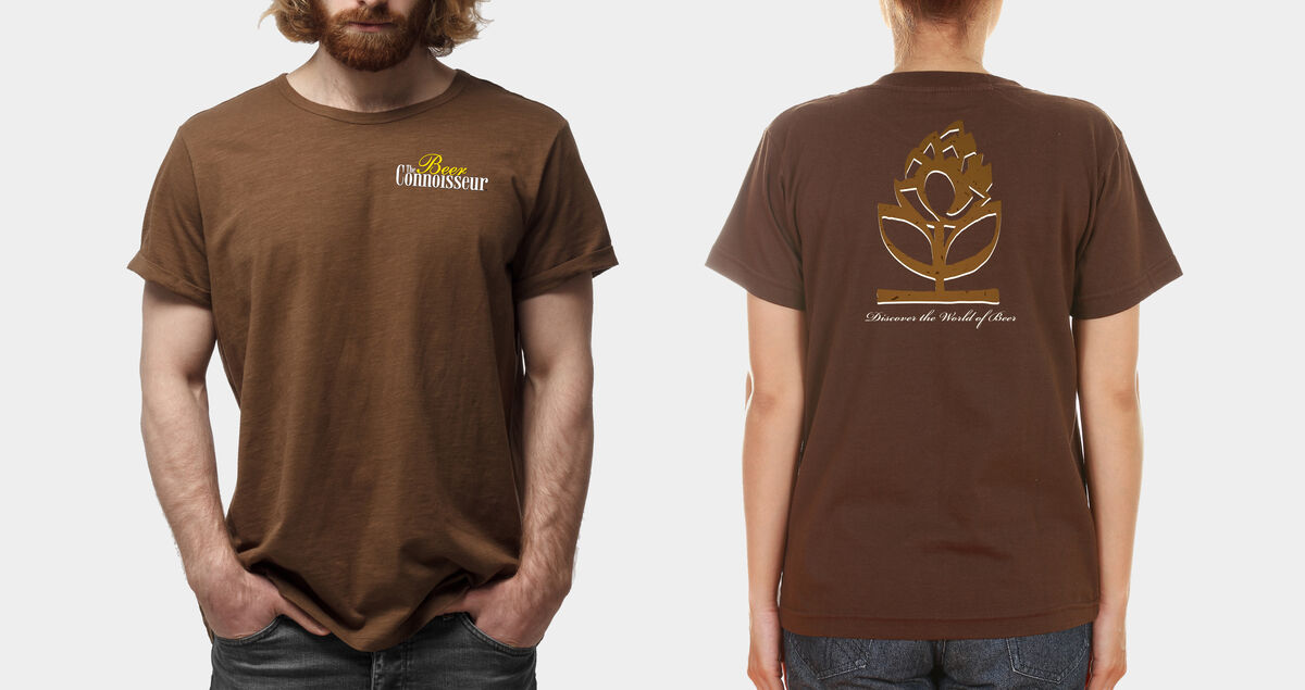 The Beer Connoisseur Branded Chocolate Short Sleeve T-Shirt