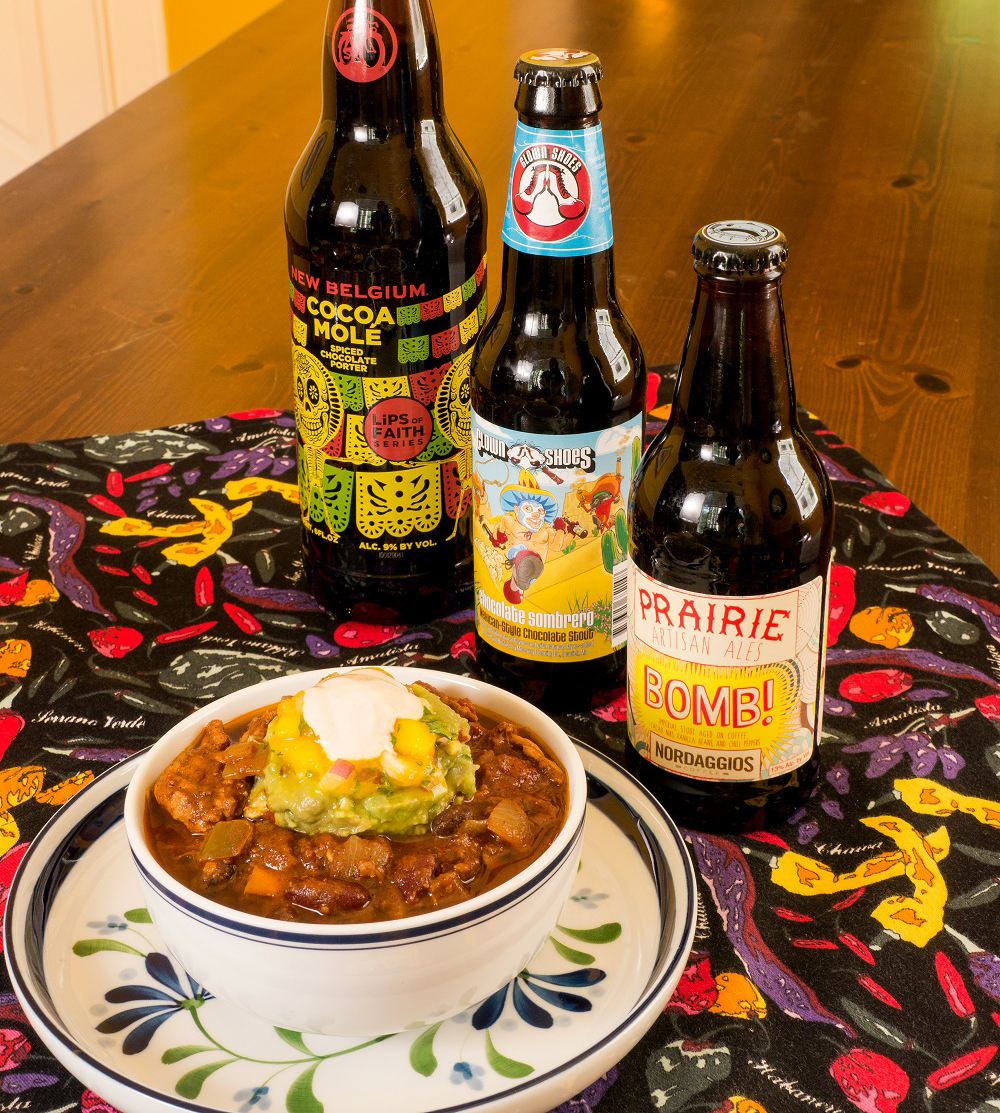 Chili beer pairings, New Belgium, Clown Shoes, Prairie Artisan Ales