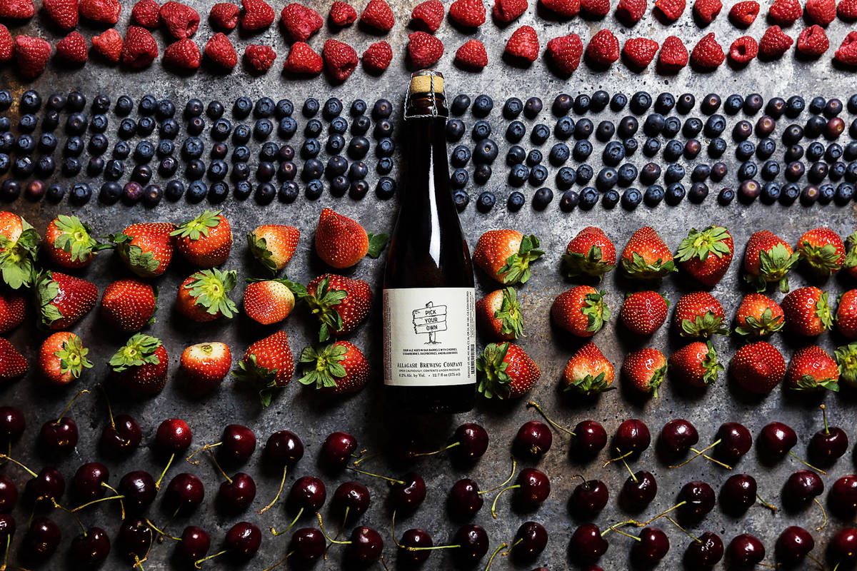 allagash brewing pick your own with various berries around it
