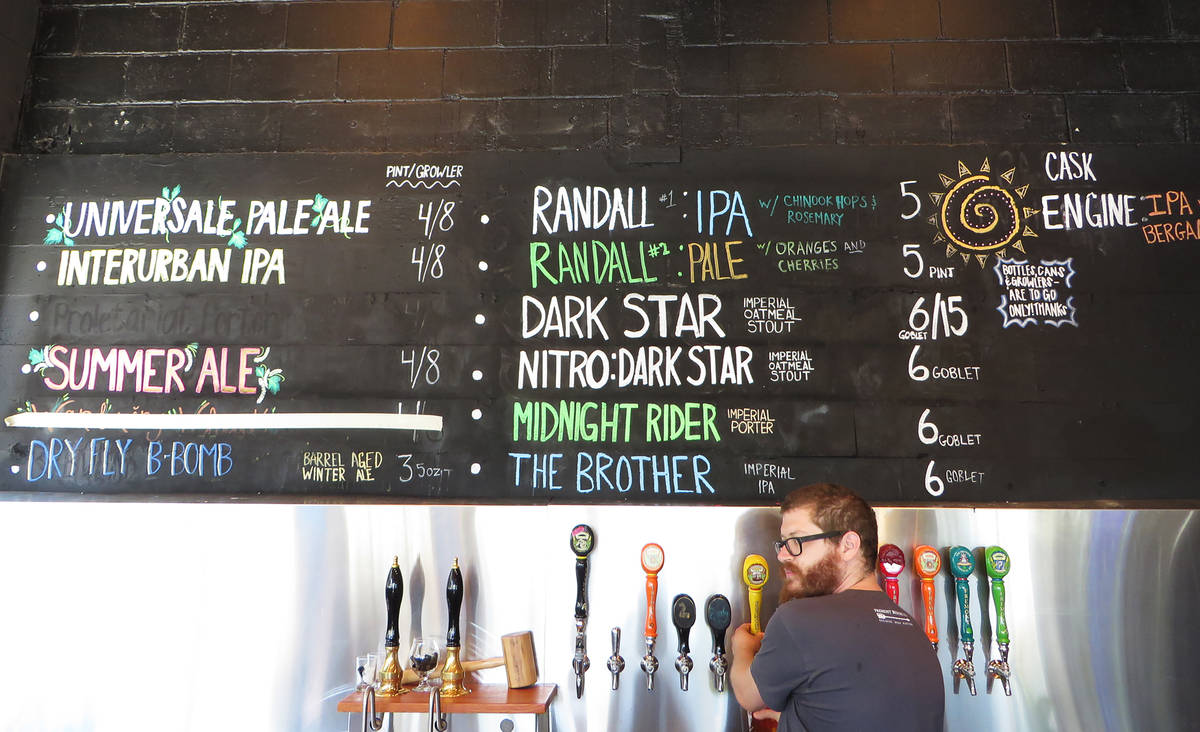 fremont brewing beer list in taproom