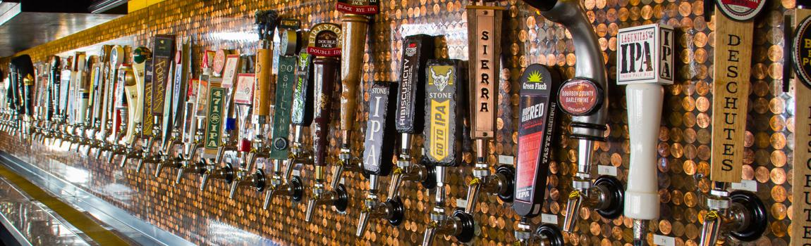 tap handles at flying saucer draught emporium