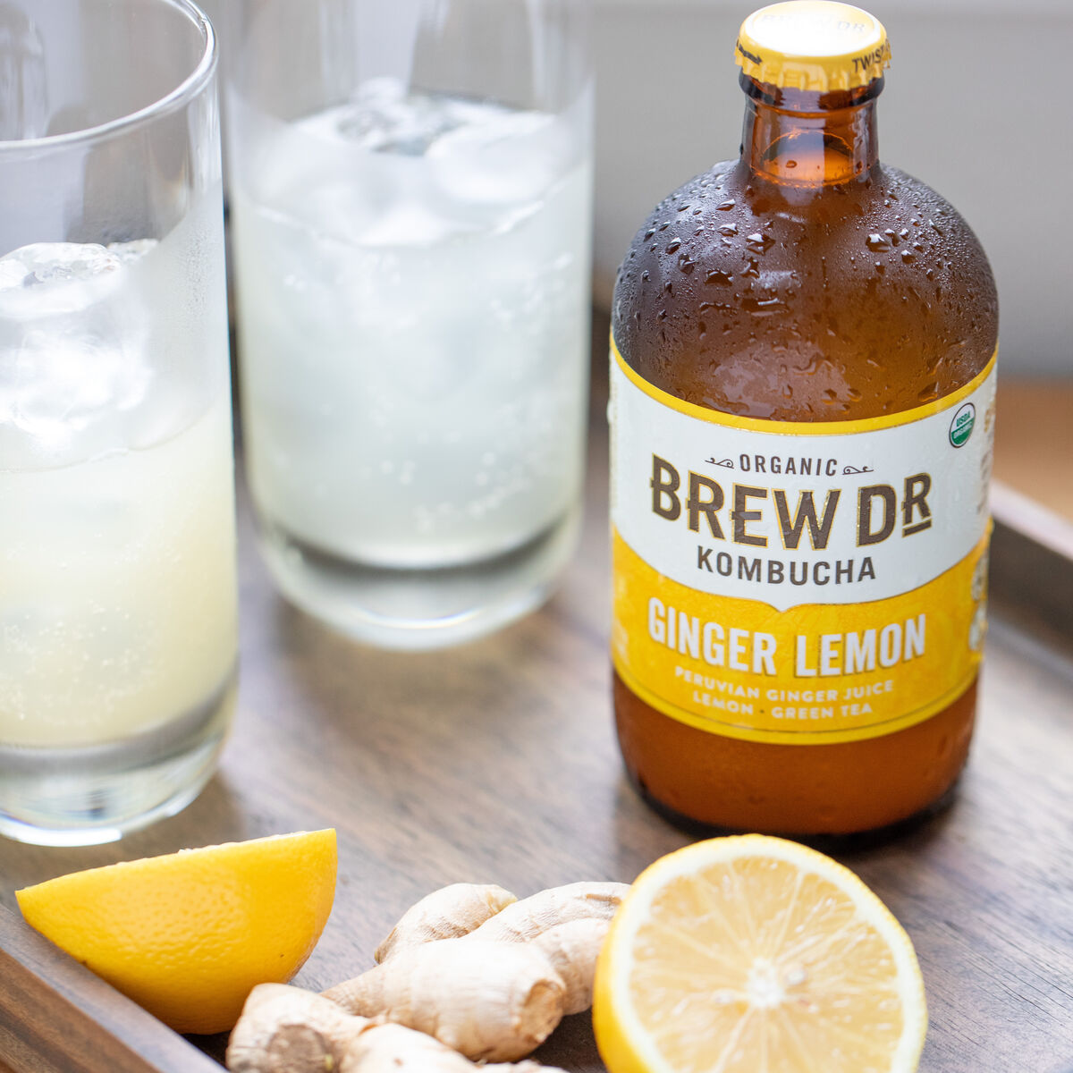 Brew Dr. Ginger Lemon Kombucha
