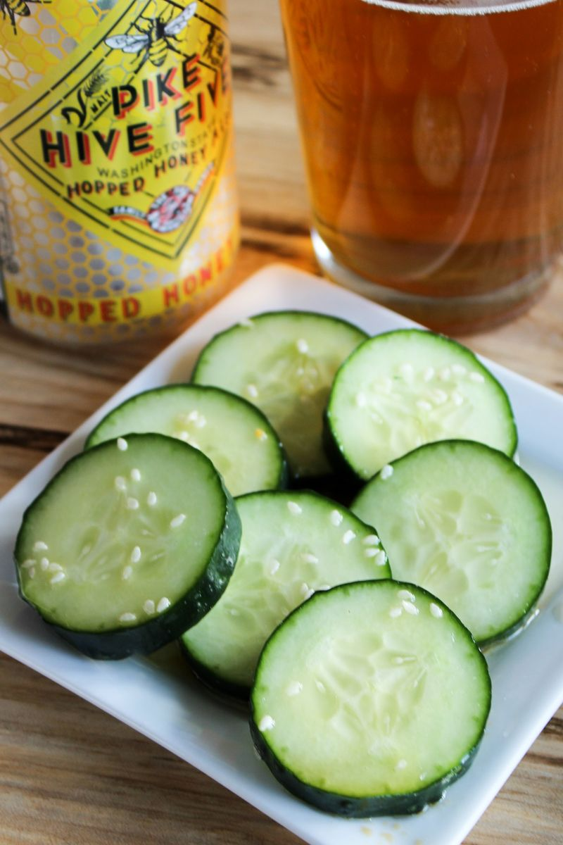 Pike Brewing Hive Five Paired With Sesame Cucumber Salad