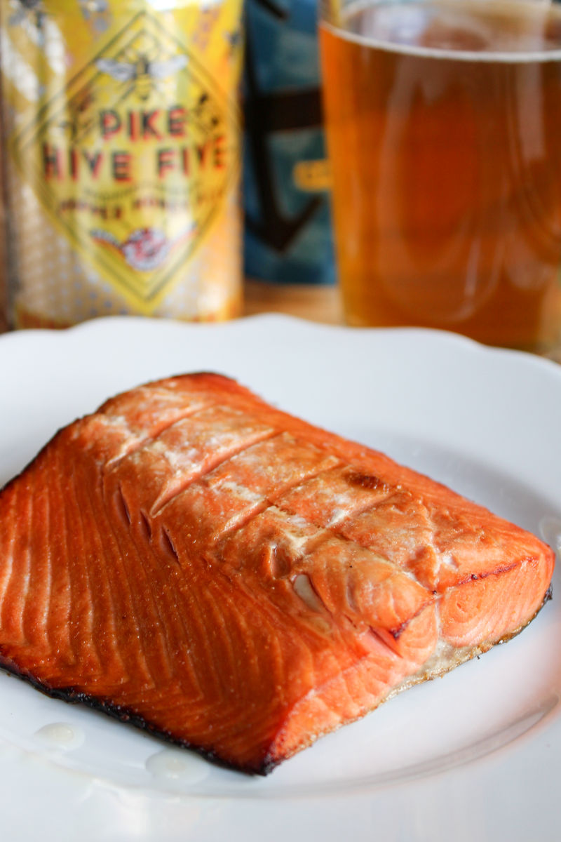 Pike Brewing Hive Five Paired With Teriyaki Salmon