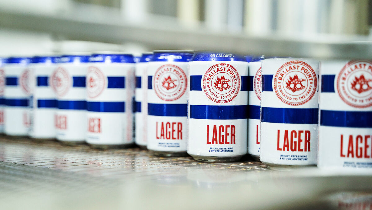 lager ballast point low-calorie beer
