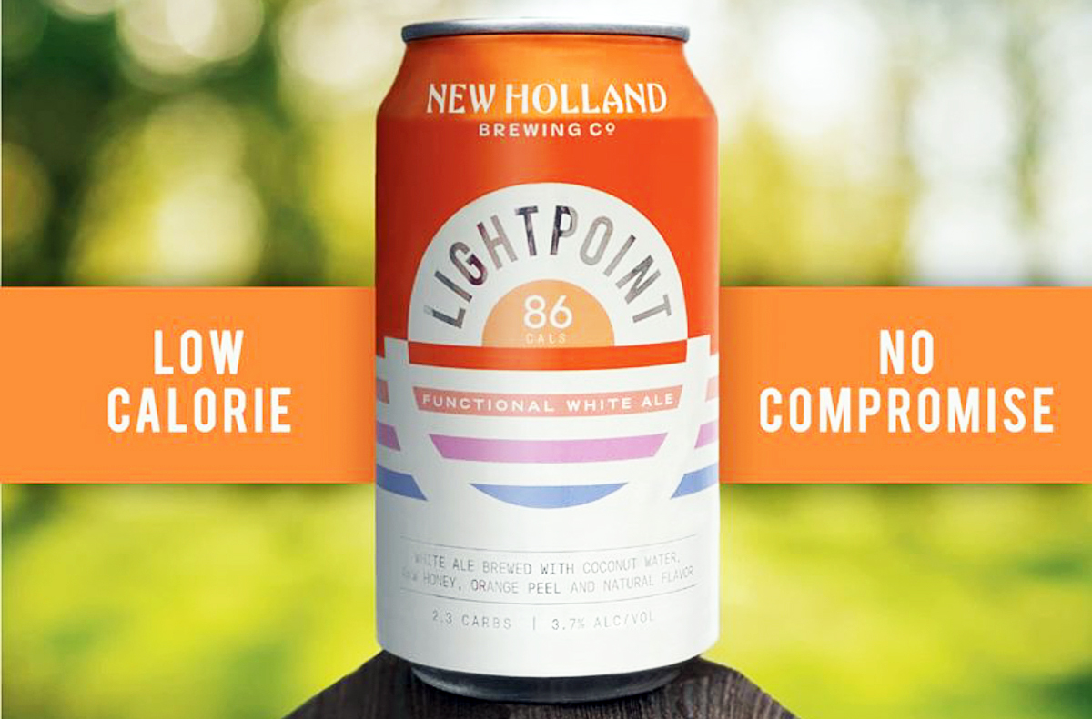 lightpoint new holland low-calorie beer
