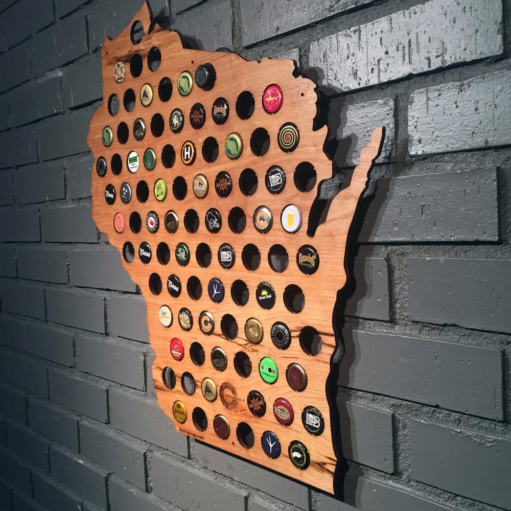 Beer Cap Maps The Beer Connoisseur - Indiana beer cap map