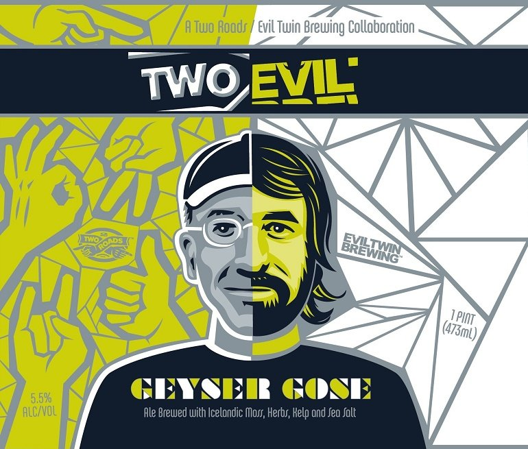 Two Roads Evil Twin Geyser Gose Beer Collaboration