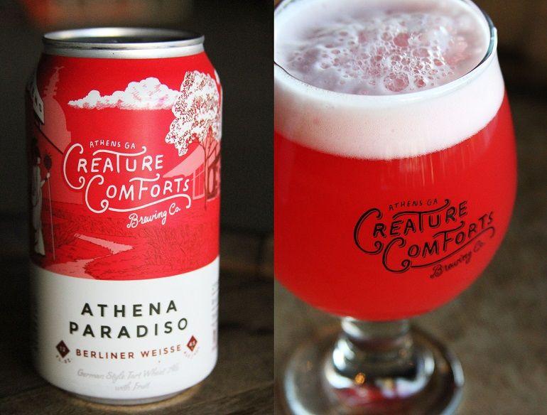 Athena Paradiso Creature Comforts Sour Fruit Berliner Weisse Beer