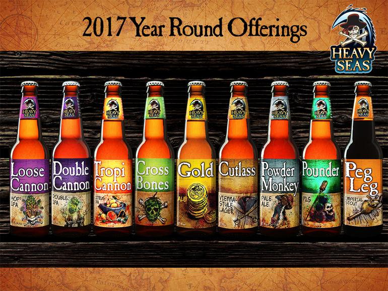 Heacy Seas Beer 2017 Year-Round Lineup