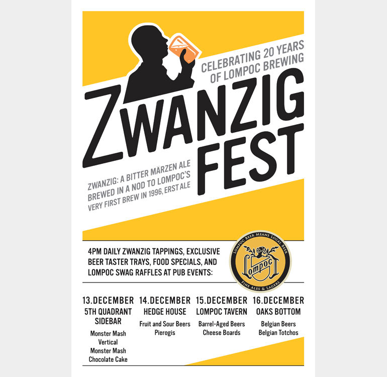 5925e0ad01 Zwanzig Fest. Zwanzig Fest. A long-time Portland craft beer fixture  established in 1996, Lompoc Brewing will celebrate its 20th anniversary ...