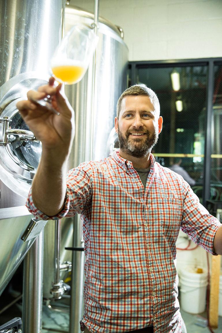 Threes Brewing Head Brewer Greg Doroski - Photo by Matt Furman