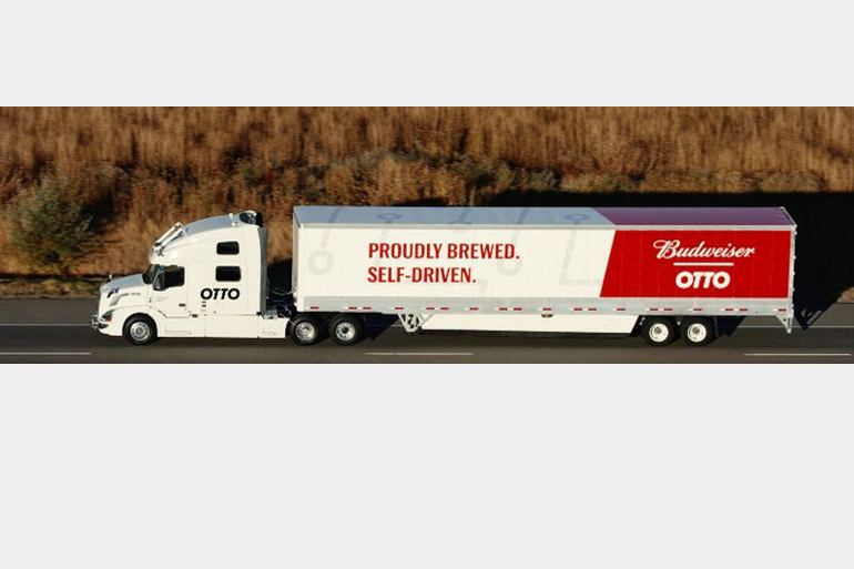 Budweiser makes first driverless shipment using Uber's Otto