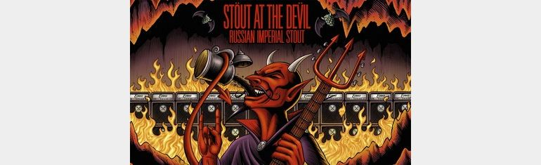 Stout at the Devil by Evans Brewiing Co.