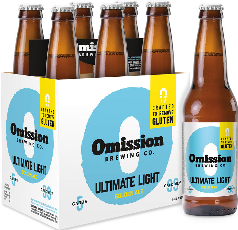Omission accomplishes release of low calorie gluten for Best light craft beers