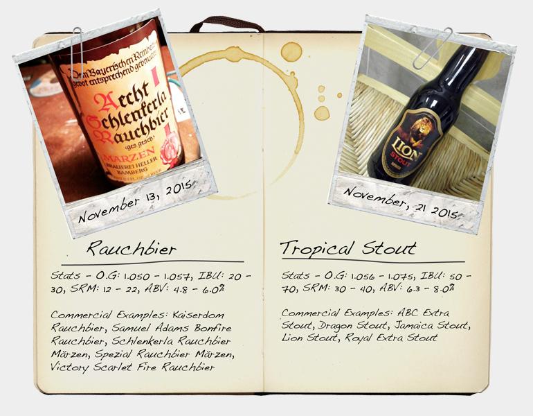 Rauchbier and Tropical Stout
