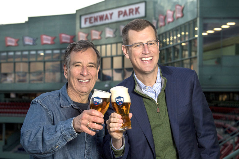 Jim Koch with Sam Kennedy, President of the Boston Red Sox