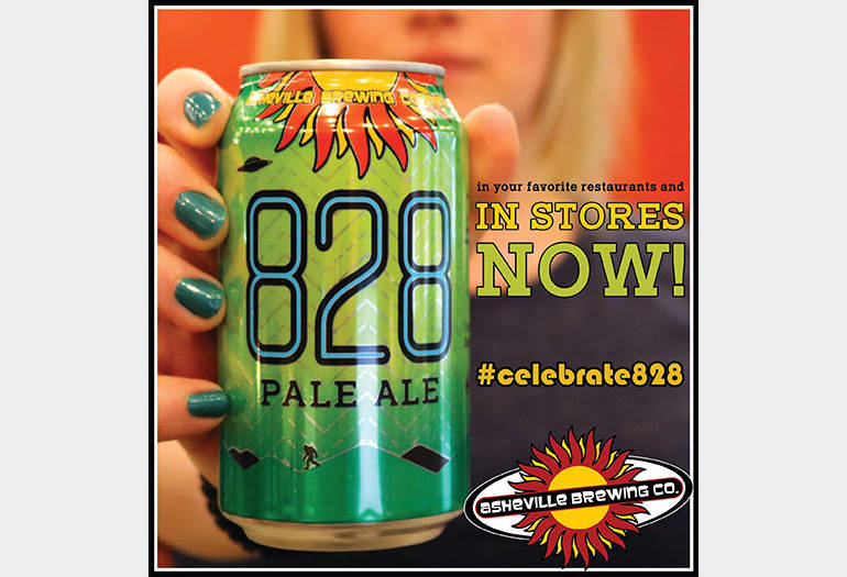 Asheville Brewing Co.'s 828 Pale Ale Now Available in Cans