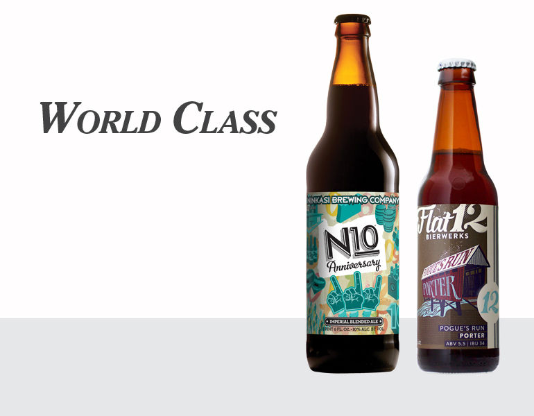 World Class | N10 Imperial Blended Ale by Ninkasi | Pogue's Run Porter by Flat12 Bierworks