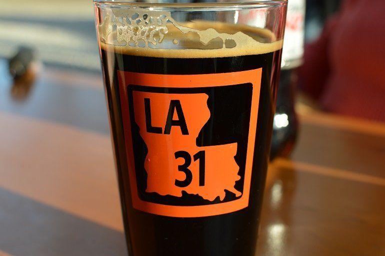 LA 31 Biere Noir, one of Bayou Teche's flagship beers. (Credit: Nora McGunnigle)