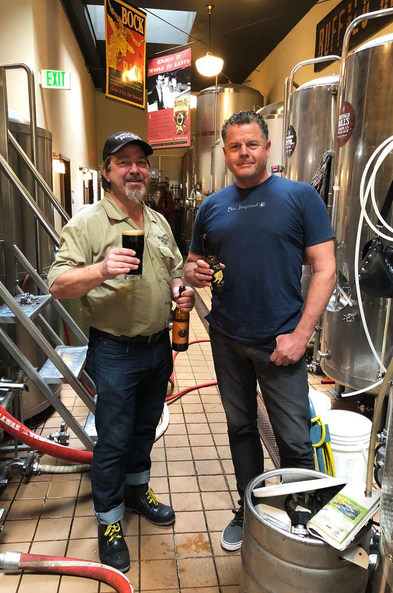 Buffalo Bill's Brewery CEO Geoff Harries (R) and Head Brewer Mike Manty (L) Talk Black Pumpkin Oatmeal Stout