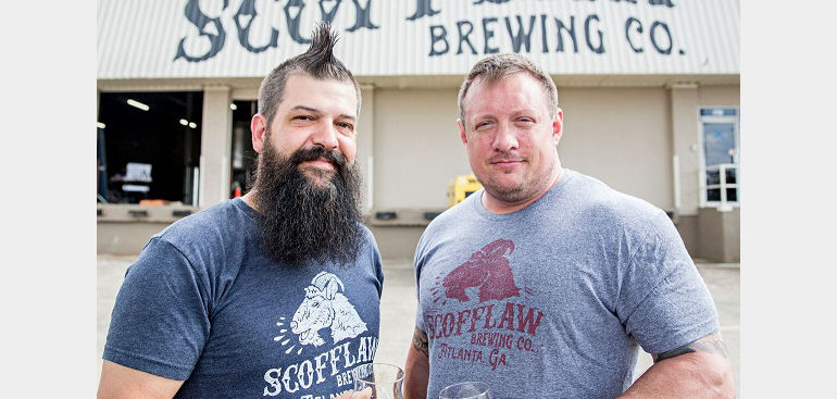 Scofflaw Brewing Co. founders Matt Shirah (left) and Travis Herman.