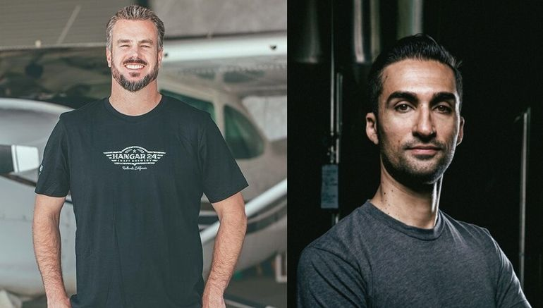 Hangar 24 Founder Ben Cook (left) and Brewery GM Armin Tchami (right)