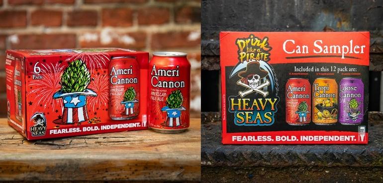 Heavy Seas Beer Unveils AmeriCannon in Six-Packs