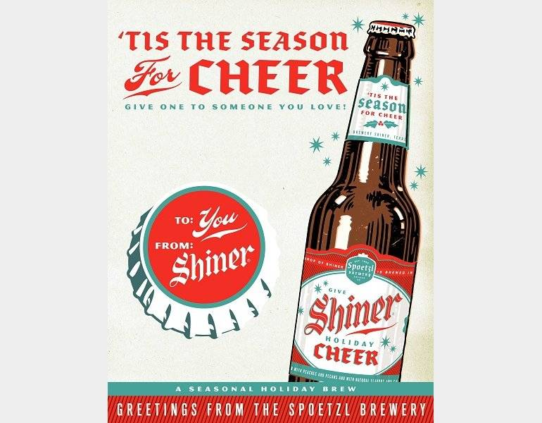 WINTER SEASONALS & HOT NEW RELEASES – Shiner Holiday Cheer! by Spoetzel Brewery