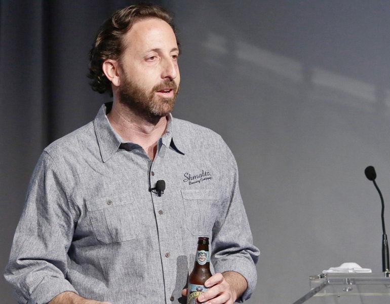Jeremy Cowan speaks at a BevNet conference.
