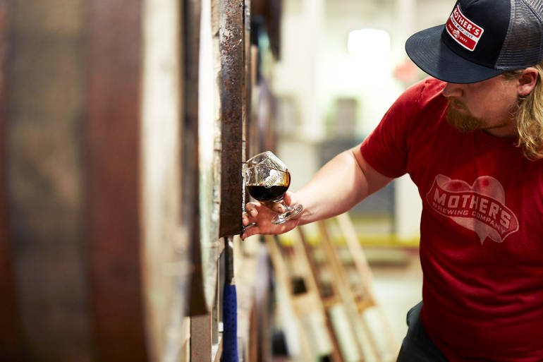 David Soper, head brewer of Mothers Brewing     Photo by Starboard & Port