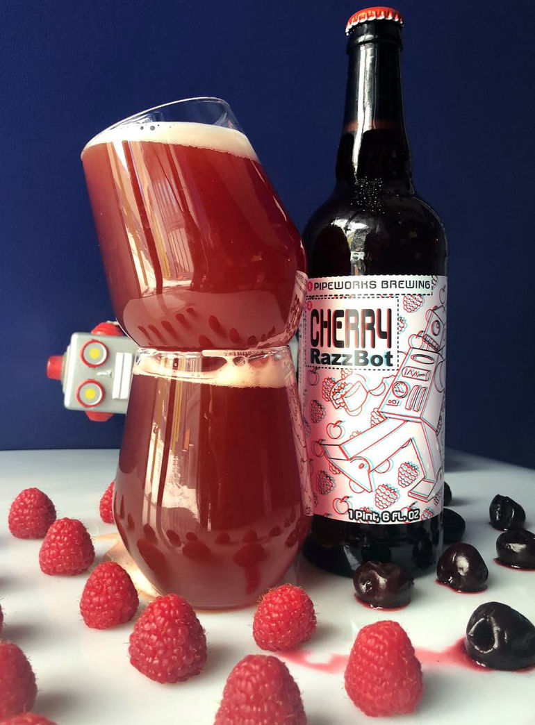 Cherry Razzbot Pipeworks Sour Ale