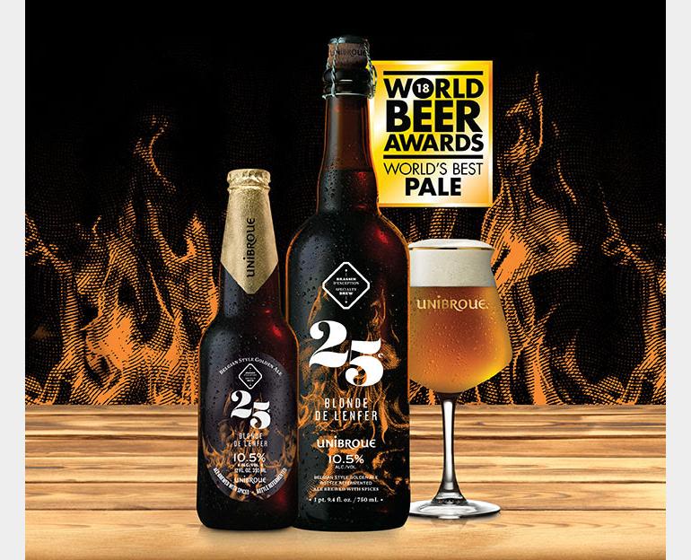 Unibroue's Blonde de l'Enfer Named World's Best Pale Beer at World Beer Awards