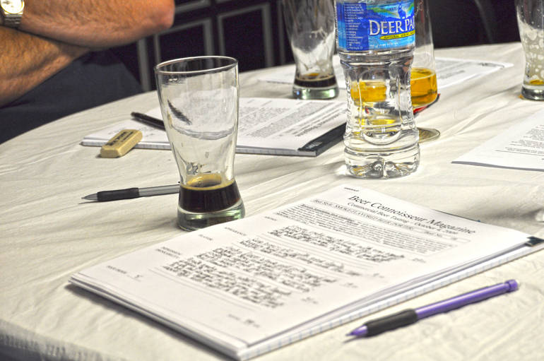 A judging session by The Beer Connoisseur review panel.