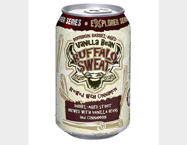 Bourbon Barrel-aged Vanilla Bean Buffalo Sweat with Cinnamon by Tallgrass Brewing Co.