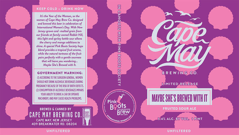 Cape May Brewing Co. Announces Pink Boots Beer Maybe She's Brewed With It