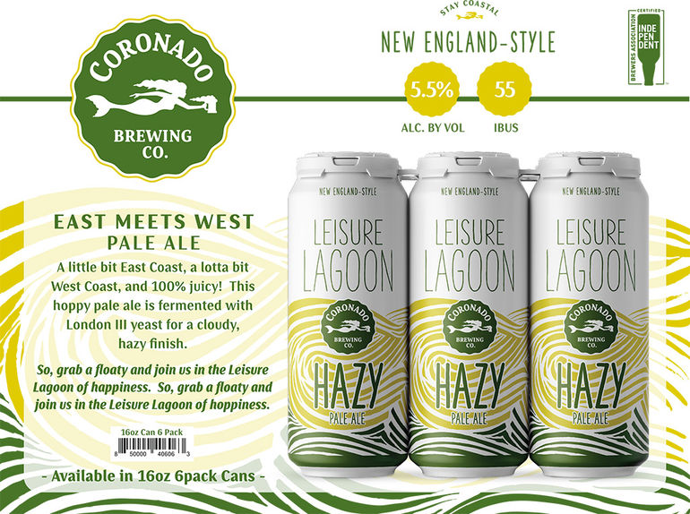 Coronado Brewing Co. Debuts New Year-Round Beer Leisure Lagoon Hazy Pale Ale