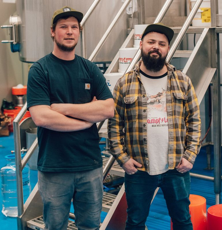 Door County Brewing Co. Head Brewer Danny McMahon and Assistant Head Brewer Kyle Gregorash Talk Clawhammer Pilsner