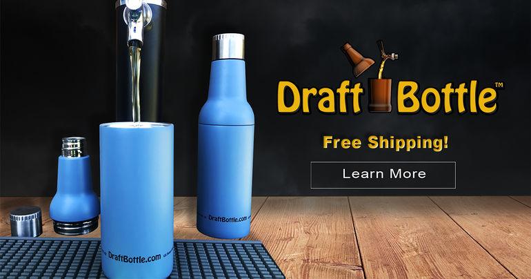 DraftBottle Releases Stainless Steel, Vacuum-Sealed Reusable Beer Bottle