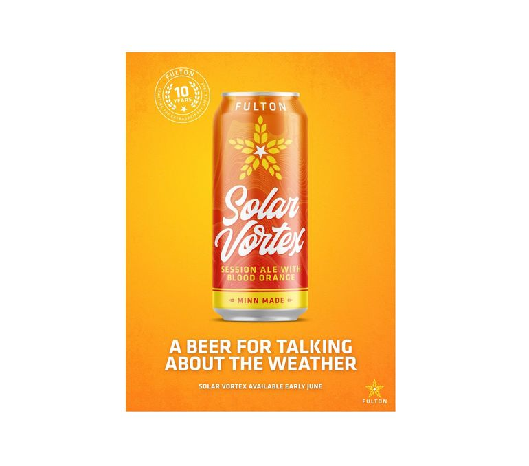 Fulton Brewing Debuts Solar Vortex Blood Orange Session Ale