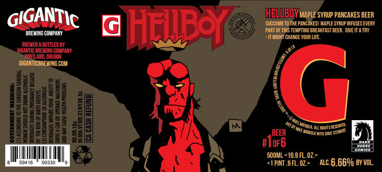 Gigantic Brewing Unveils Hellboy-Inspired Collaboration with Dark Horse Comics