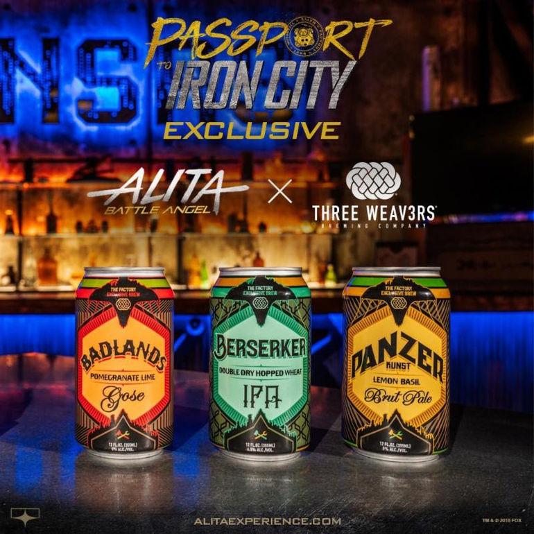 Three Weavers Brewing Co. Debuts Three Custom Beers for Alita: Battle Angel Film Experience