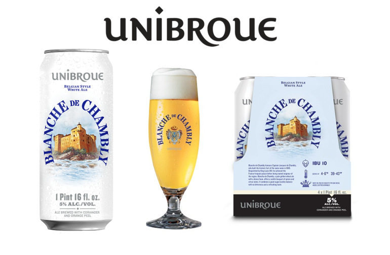 Unibroue Unveils Blanche de Chambly in Cans for First Time