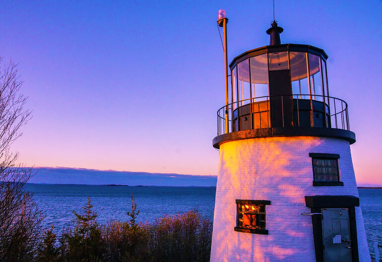 Owl's Head Lighthouse in Maine (Photo by PJ Walter Photography)