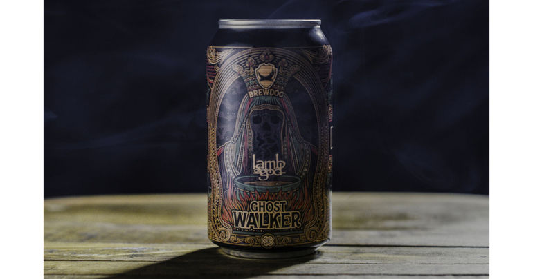 BrewDog Unveils Non-Alcoholic Collaboration Beer with Metal Band Lamb of God Called Ghost Walker