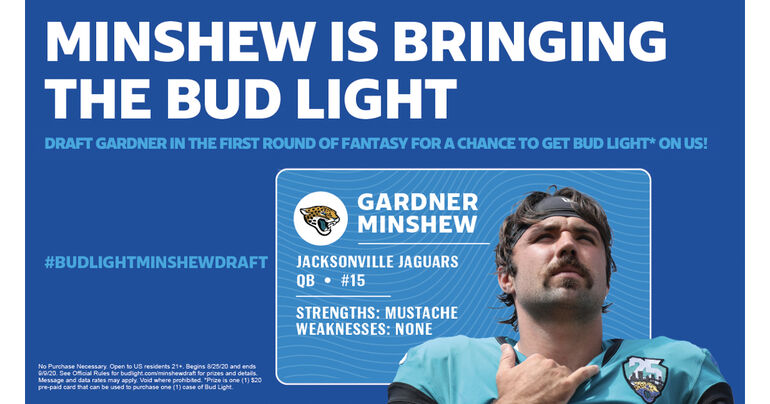 Bud Light Offers Fantasy Football Owners Chance to Win Free Case If They Draft Gardner Minshew