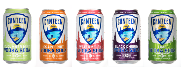 CANTEEN Spirits Announces Launch of Sparkling Vodka and Soda Across US