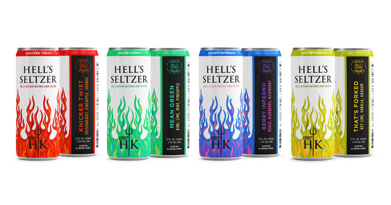 Chef Gordon Ramsay Launches Hell's Hard Seltzer