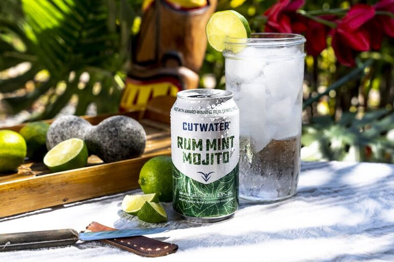 Cutwater Spirits Introduces Rum Mint Mojito Canned Cocktails
